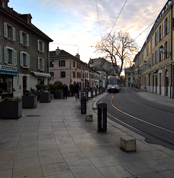 Rue du pont neuf à Carouge, Genève