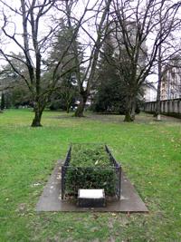 Cimetière des Rois, Genève. Tombe Jean Calvin