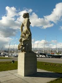 Statue La Brise Quai Gustave-Ador Genève