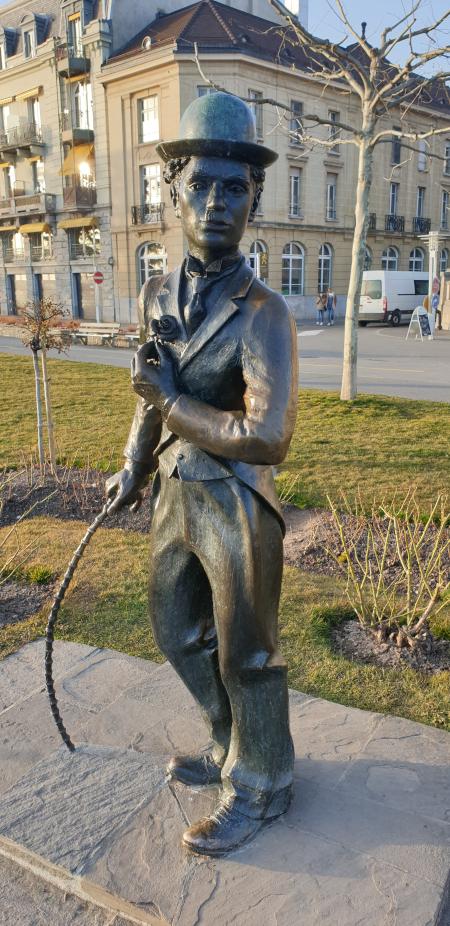 Statue Charlie Chaplin Vevey