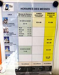 horaires des messes à Annecy