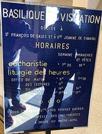 horaires de la Visitation d'Annecy