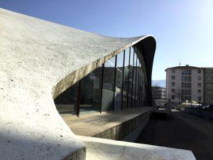 Pavillon Sicli, vue sur la coque en béton