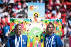 La Croix de Lund en Namibie pour la douzième assemblée de la Fédération luthérienne mondiale en Mai 2017.