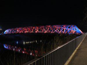 L'architecture du pont Hans-Wisldorf, Genève