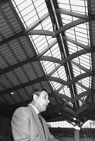 Inauguration de la nouvelle patinoire, Jean-Michel Pellegrino, syndic de Morges.
