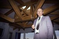 L'architecte du bois vaudois Pierre-André Birbaum. 14.03.1990. Photo 24heures/Patrick Martin