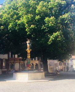 La Fontaine de l'Ange en juin