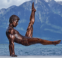 Statue Li Ning Montreux