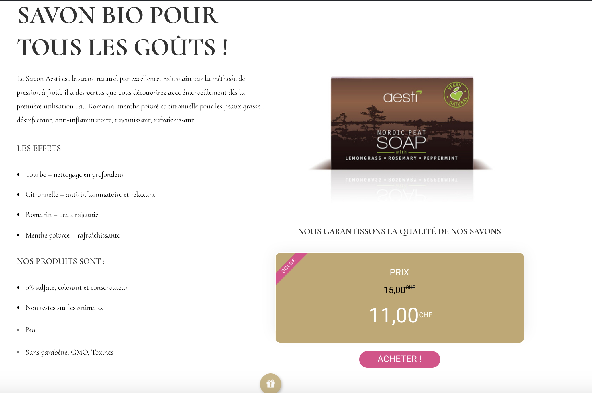 Ted Beaubrun Genève - E-Commerce - Landing Page