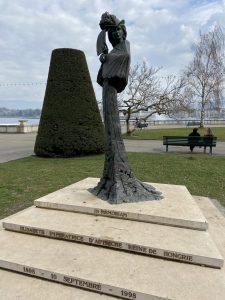 La statue de Sissi Genève
